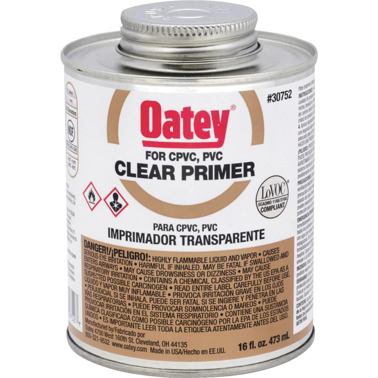Oatey 16 Oz. Clear Pipe and Fitting Primer for PVC/CPVC  Image 1