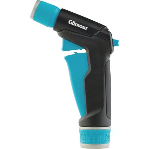 Gilmour Stainless Steel Adjustable Pistol Nozzle, Black & Green